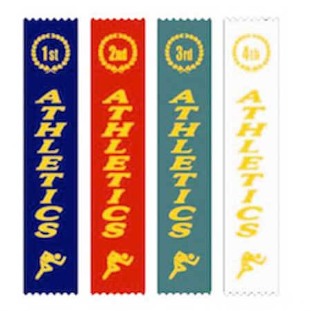 award athletics ribbons 1st 2nd 3rd 4th