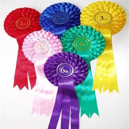 award horse dog show rosette design