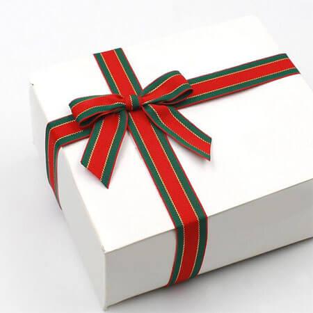 big flag ribbon bow stripe gift wrapping