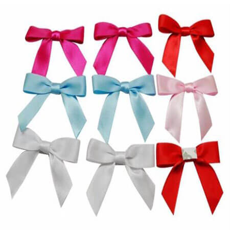 easy sample red ribbon bow with adhesive tape