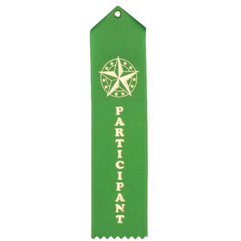 green participation ribbon award