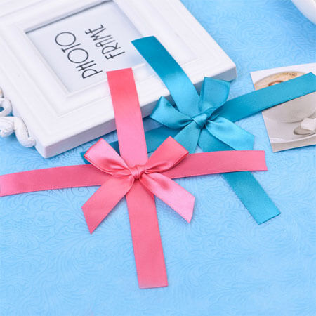 handmade satin ribbon bow for gift wrapping