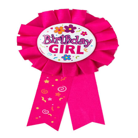 happy birthday custom award rosette ribbon