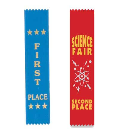 pinked top award ribbon first 1st 2nd