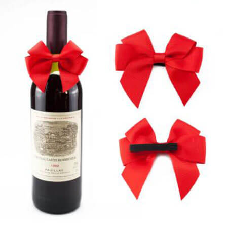 wine red color handmade diy ribbon bows